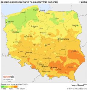 Nasłonecznienie Polski